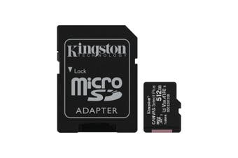 Kingston 512GB 100MB/s Canvas Select Plus Micro SD Card Class 10 Memory Card