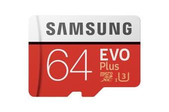 Samsung MicroSD XC 64GB Evo Plus 100MB/s Class 10 Memory Card