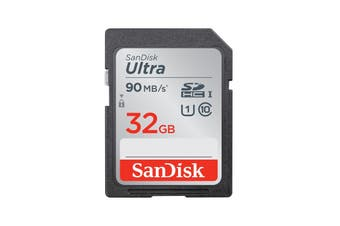 SanDisk 32GB SD Card SDXC Ultra 90MB/s UHS-1 Class 10 Camera Memory Card