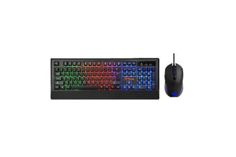 Thermaltake Tt eSports Challenger Duo Gaming Keyboard & Mouse Combo Set Membrane Optical Ergonomic Rainbow Backlighting