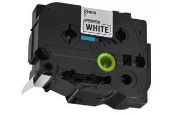 Brother Compatible TZe-251 Label Tape [24mm x 8m] [Black on White]