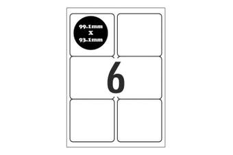 A4 Self Adhesive Address Labels [Compatible with Avery Word Templates] for Laser Inkjet Printers Mailing Sticker [6 Per Page]