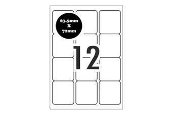 A4 Self Adhesive Address Labels [Compatible with Avery Word Templates] for Laser Inkjet Printers Mailing Sticker  [12 Per Page]