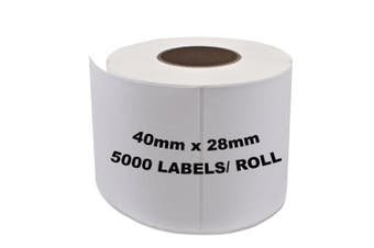 ZEBRA Thermal Transfer Compatible Labels 40mm x 28mm 5000 Labels/Roll