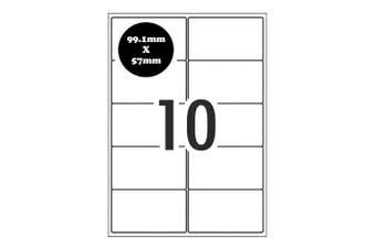 A4 Self Adhesive Address Labels [Compatible with Avery Word Templates] for Laser Inkjet Printers Mailing Sticker [10 Per Page]
