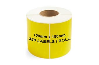 ZEBRA & ALL Direct Thermal Printer Compatible YELLOW Labels 100mm x 150mm 350 Labels/Roll