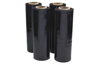 Black Hand Stretch Film Pallet Shrink Wrap [500mm x 400m]