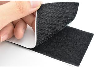 HOOK and LOOP Self Adhesive Fastener Tape Sew On Black Fastening Sticky Strap