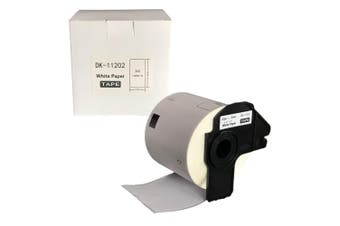BROTHER Compatible Labels 62mm x 100mm 300 Labels/Roll [DK11202] Boxed with Cartridge Holder
