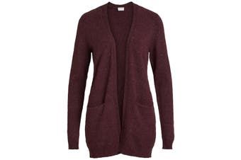 Vila Clothes Women's Cardigan In Bordeaux