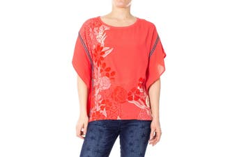 Desigual Women's Blouse In Coral