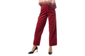 Jacqueline De Yong Women's Trousers In Bordeaux