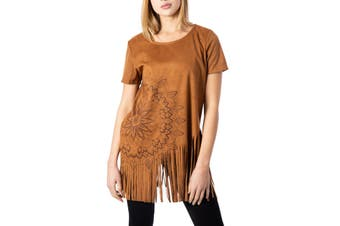 Desigual Women's T-Shirt In Brown