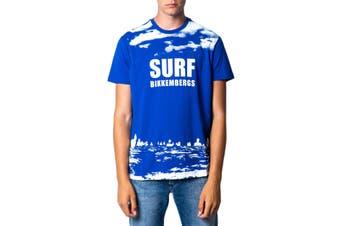 Bikkembergs Men's T-Shirt In Light Blue