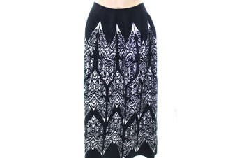 Alaia NEW Black Women's Size Medium M Damask Stretch Knit Skirt