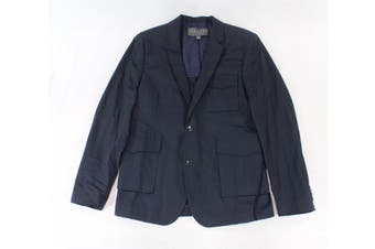 Highline NEW Navy Blue Mens Size Large L Two Button Notched Blazer