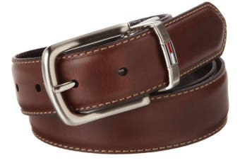 Tommy Hilfiger NEW Brown Black Mens Size 30 Stiched Reversible Belt