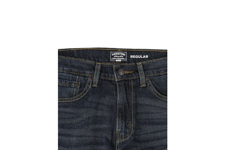 Levi's Signature By Levi Strauss NEW Blue Men Size 38x30 Straight Jeans