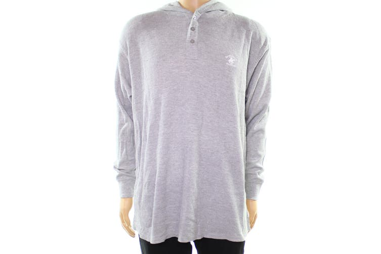 Beverly Hills Polo Club NEW Gray Mens Size Medium M Hooded Sweater
