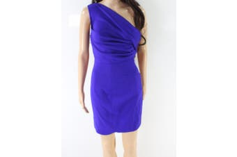 DSquared2 NEW Purple Women's Size 40 Ruched One Shoulder Sheath Dress