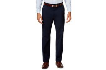 Alfani NEW Navy Blue Mens Size 32X32 Dress Flat Front Stretch Pants