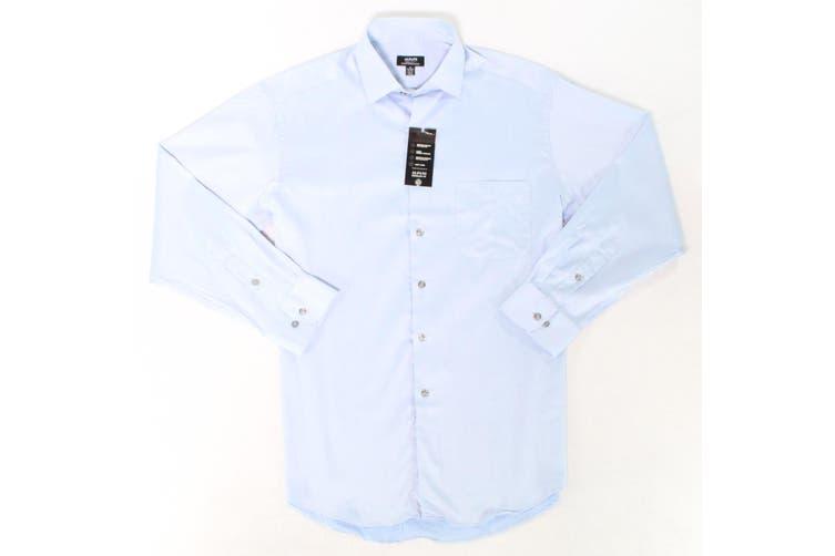 Alfani NEW Blue Mens Size 18 1/2 Regular Fit Performance Dress Shirt