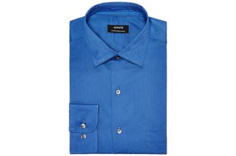 Alfani NEW Blue Mens Size XL Performance Micro Stripe Dress Shirt