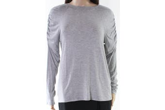 14th & Union NEW Gray Women's Size Small S Ruched Sleeve Knit Top