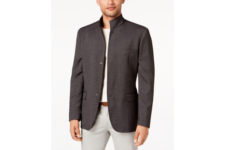 Alfani NEW Deep Black Mens XL Four Button Brick Texture Sportcoat