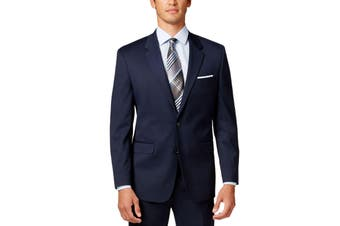 Alfani NEW Navy Blue Mens Size 48 Long Two Button Regular Fit Blazer