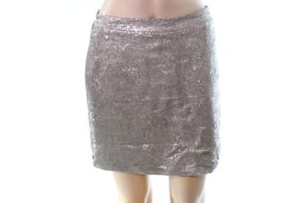 Shinestar NEW Gold Size Large L Junior Sequined Straight Pencil Skirt