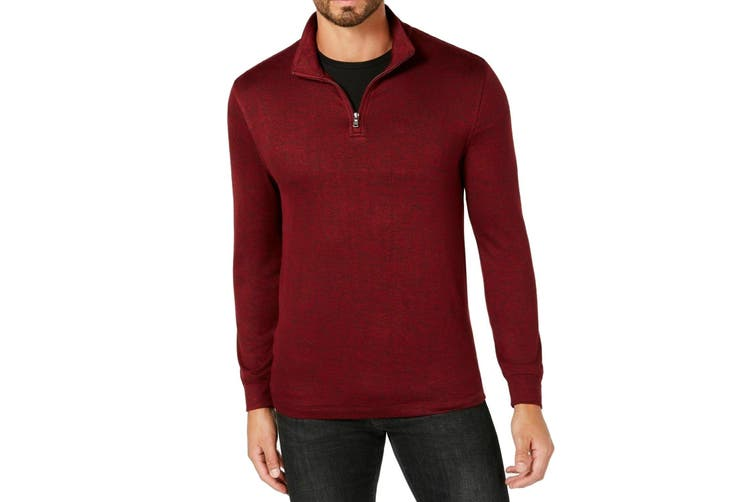 Club Room NEW Red Mens Size XL Long Sleeve Pullover 1/2 Zip Sweater