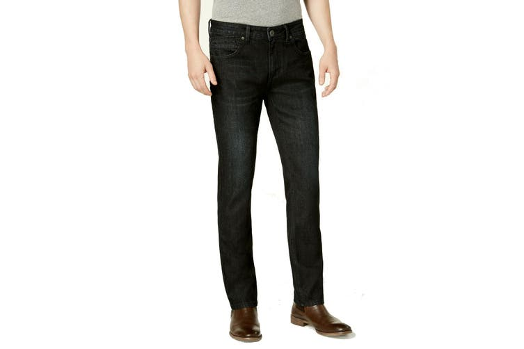 INC NEW Black Mens Size 40X30 Slim Fit Straight Leg Stretch Jeans