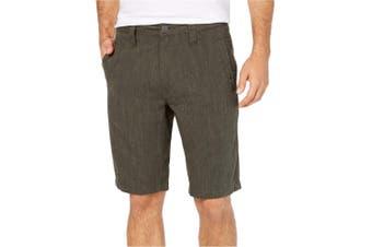 INC NEW Solid Tank Green Mens Size 30 Regular Fit Flat Front Shorts