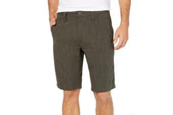 INC NEW Solid Green Tank Mens Size 33 Regular Fit Flat Front Shorts