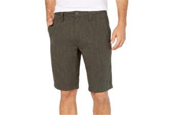 INC NEW Solid Tank Green Mens Size 32 Regular Fit Flat Front Shorts