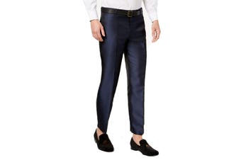 INC NEW Blue Mens Size 33X32 Slim Fit Dress - Flat Front Stretch Pants
