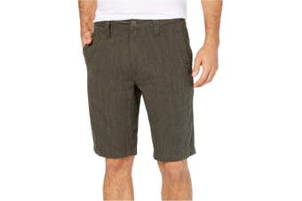 INC NEW Solid Tank Green Mens Size 31 Regular Fit Flat Front Shorts