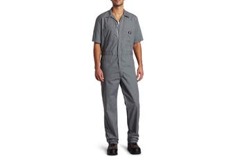 Dickies NEW Gray Mens Size Medium M Comfort Short Sleeve Work Coveralls