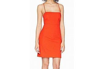 ASTR Women's Dress Red Size XS Corset Tie Back Mari Sheath Clubwear
