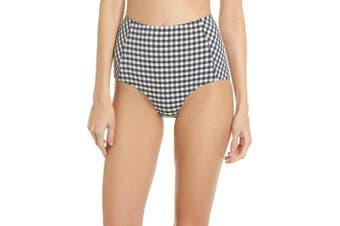 Tory Burch Women's Bikini Bottom Black Size Large L Gingham High-Waist