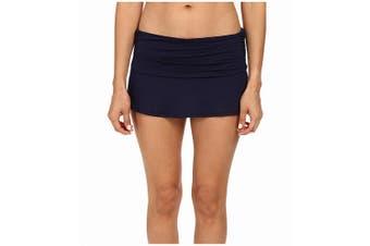 Carve Designs Women's Swim Skirt Blue Size XS Playa Ruched Ruffle