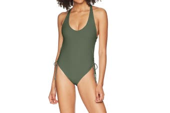 Body Glove Women's Swimwear Green Size Medium M One-Piece Side-Tied