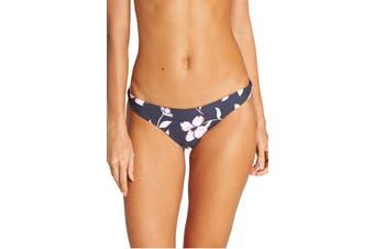 Billabong Women's Swimwear Blue Size Large L Floral Bikini Bottom