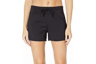 24th & Ocean Women's Swimwear Black Size Small S Drawstring Swim Shorts