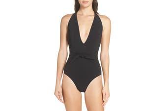 Tory Burch Women's Swimwear Black Size Medium M Belted One-Piece