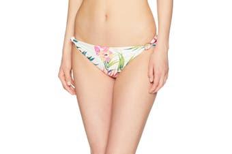 Billabong White Women's Size Medium M Bikini Bottom Floral Swimwear