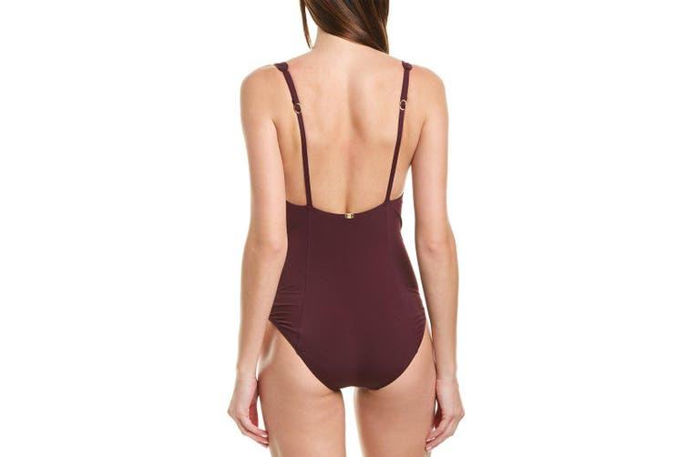 Amoressa Women's Swimsuit Purple Size 6 Gitano Fandango One Piece