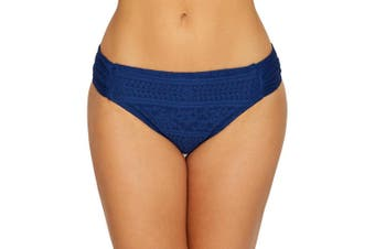 Bleu Rod Beattie Women's Swimwear Blue Size 6 Crochet Ruched Bikini