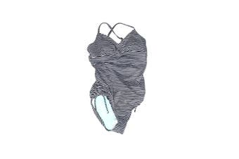 prAna Women's Swimwear White Black Size Small S One-Piece Striped Moorea #109